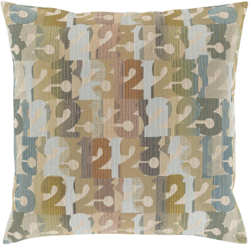 "Surya Rugs Pillows 18"" x 18"" Decorative Pillow - Item Number: SHP002-1818P"