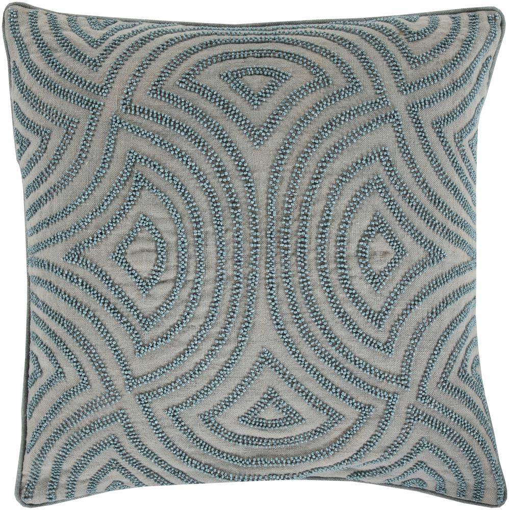 "Surya Pillows 18"" x 18"" Skinny Dip Pillow - Item Number: SKD001-1818P"