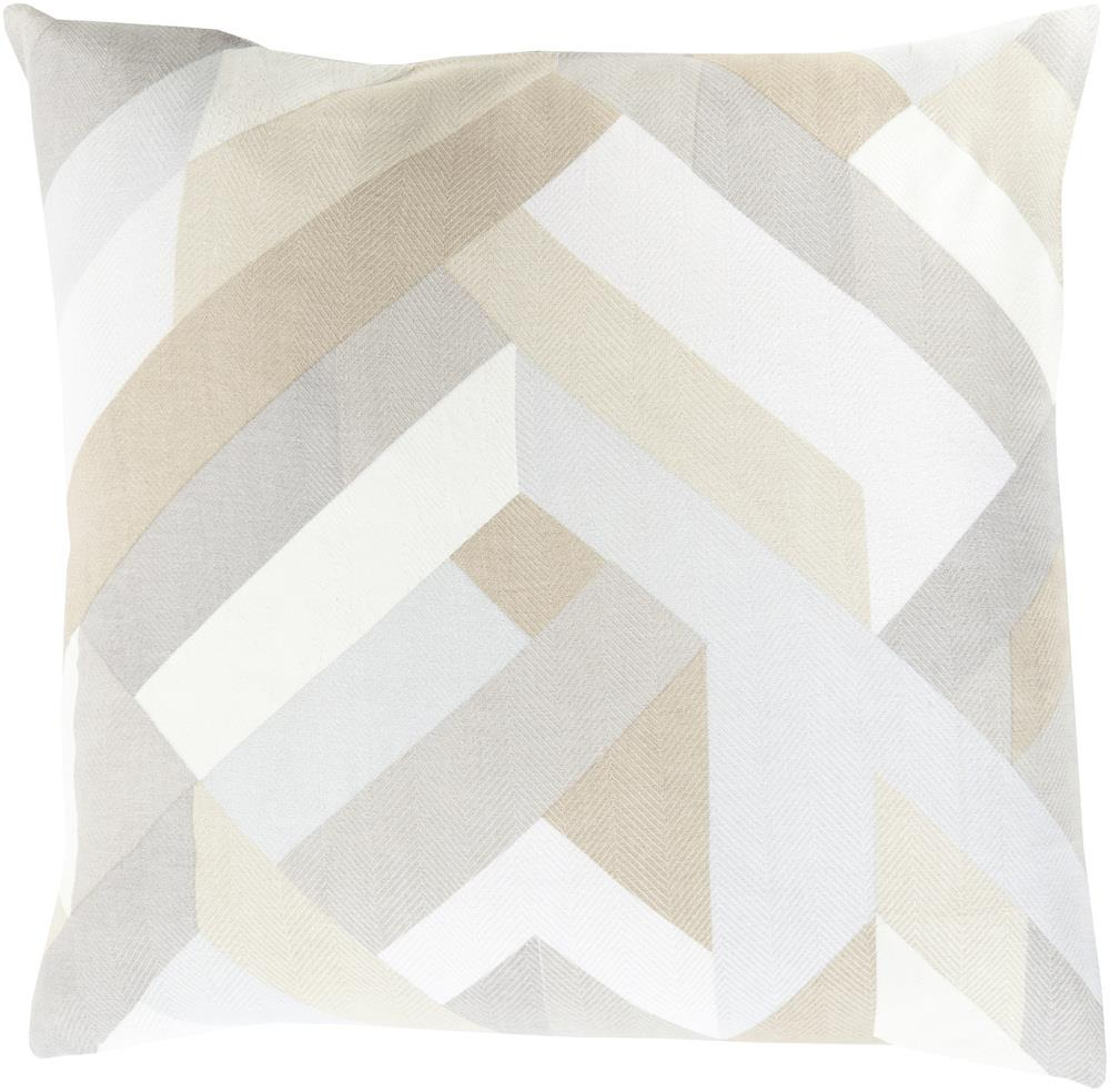 "Surya Pillows 22"" x 22"" Decorative Pillow - Item Number: TO015-2222P"