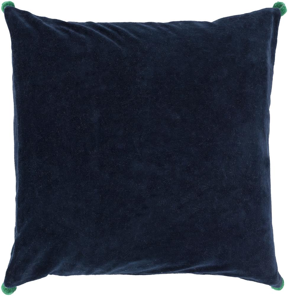 "Surya Pillows 22"" x 22"" Velvet Poms Pillow - Item Number: VP004-2222P"