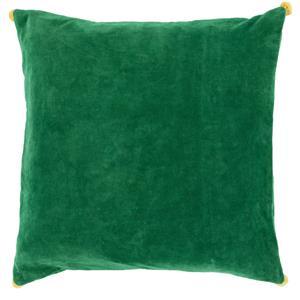 "Surya Pillows 22"" x 22"" Velvet Poms Pillow"