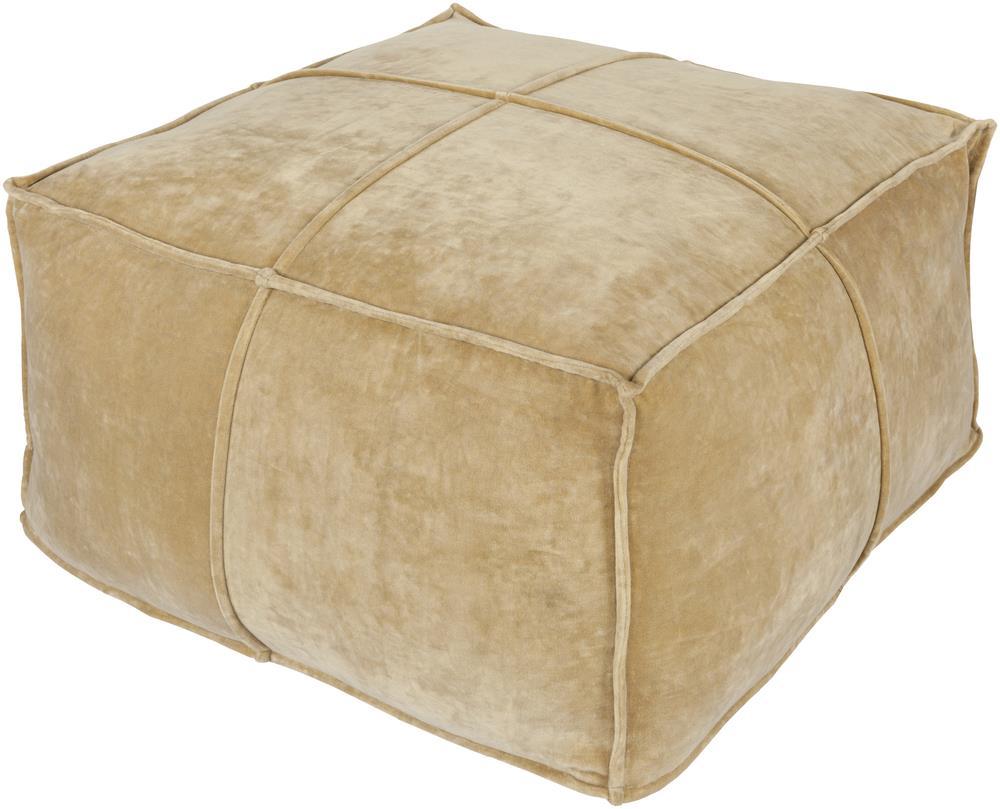 """Surya Poufs 24"""" x 24"""" x 13"""" Cotton Velvet Pouf - Item Number: CVPF-002"""