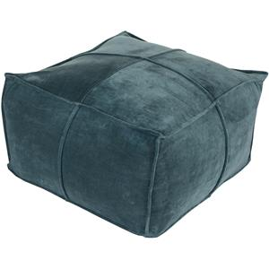 "24"" x 24"" x 13"" Cotton Velvet Pouf"