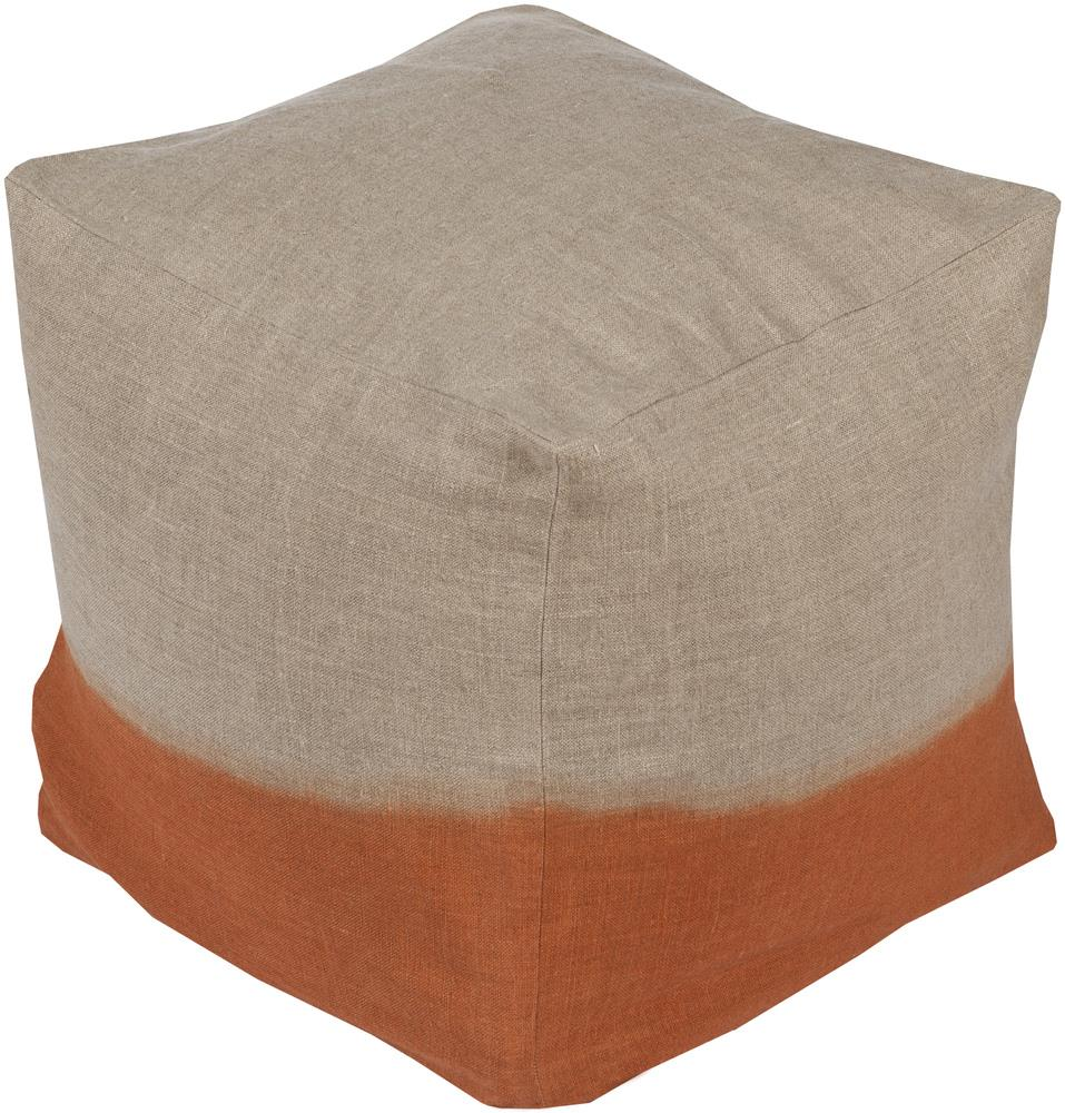 "Surya Poufs 18"" x 18"" x 18"" Dip Dyed Pouf - Item Number: DDPF007-181818"