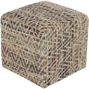 """Surya Rugs Poufs 18"""" x 18"""" x 12"""" Dahlia Pouf"""