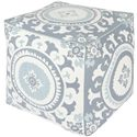 "Surya Rugs Poufs 18"" x 18"" x 18"" Kate Spain Pouf - Item Number: KSPF-015"