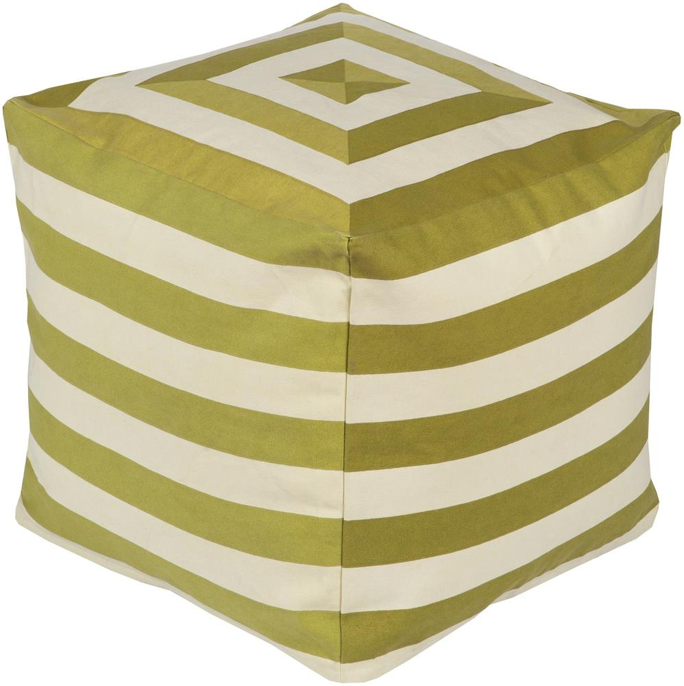 "Surya Poufs 18"" x 18"" x 18"" Playhouse Pouf - Item Number: PHPF004-181818"