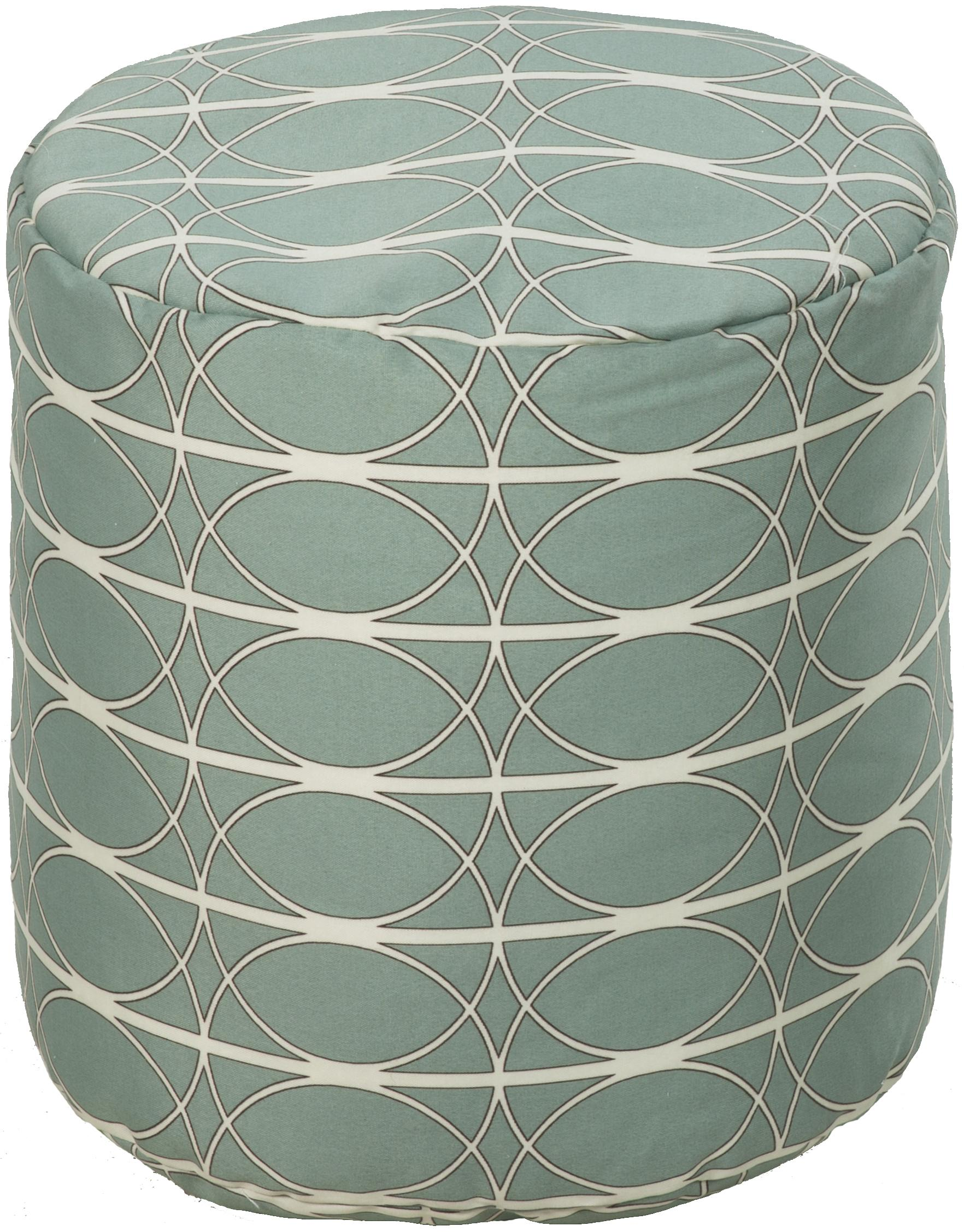 "Surya Rugs Poufs Round 18"" Pouf - Item Number: POUF-104"
