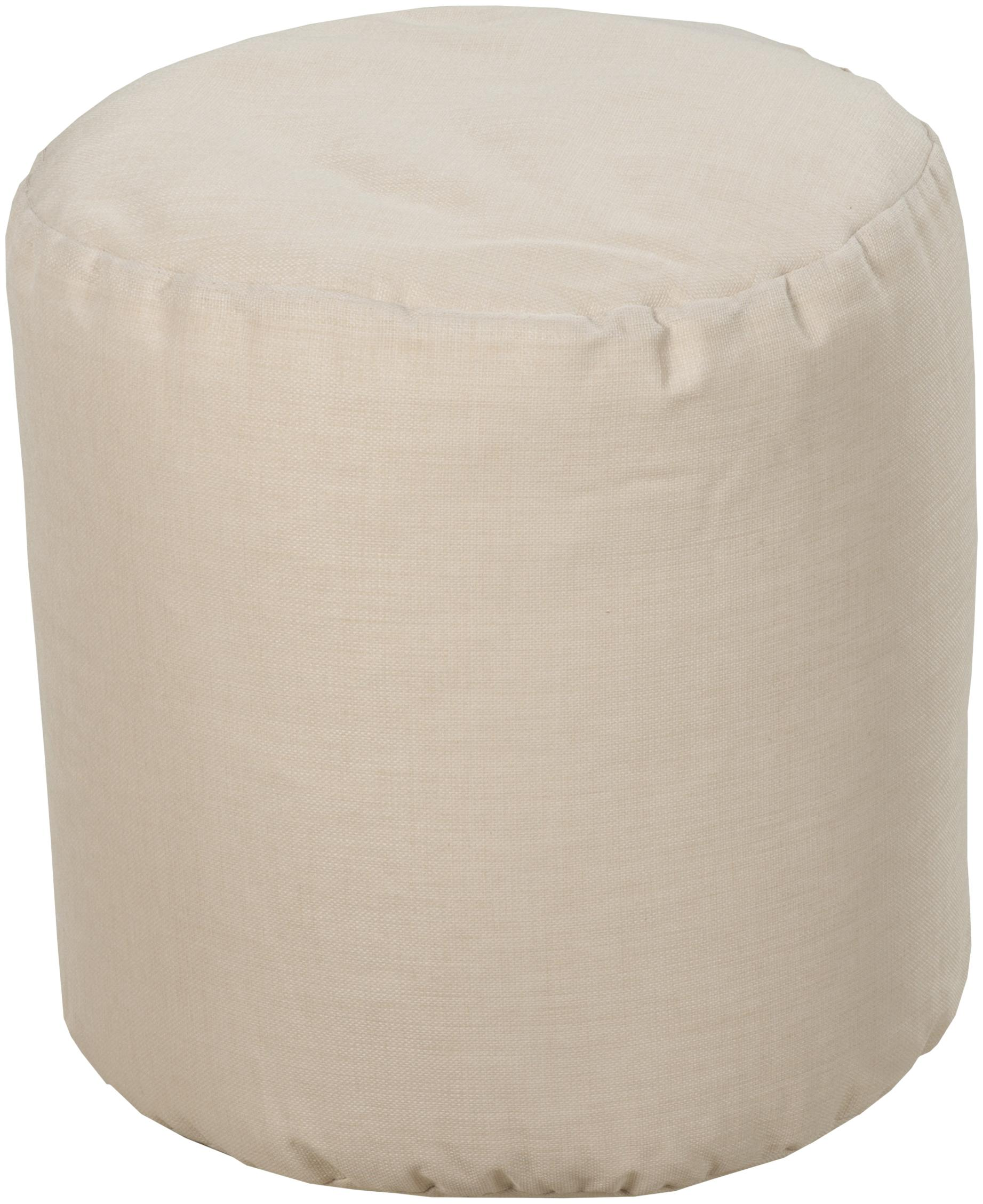 "Surya Rugs Poufs Round 18"" Pouf - Item Number: POUF-106"