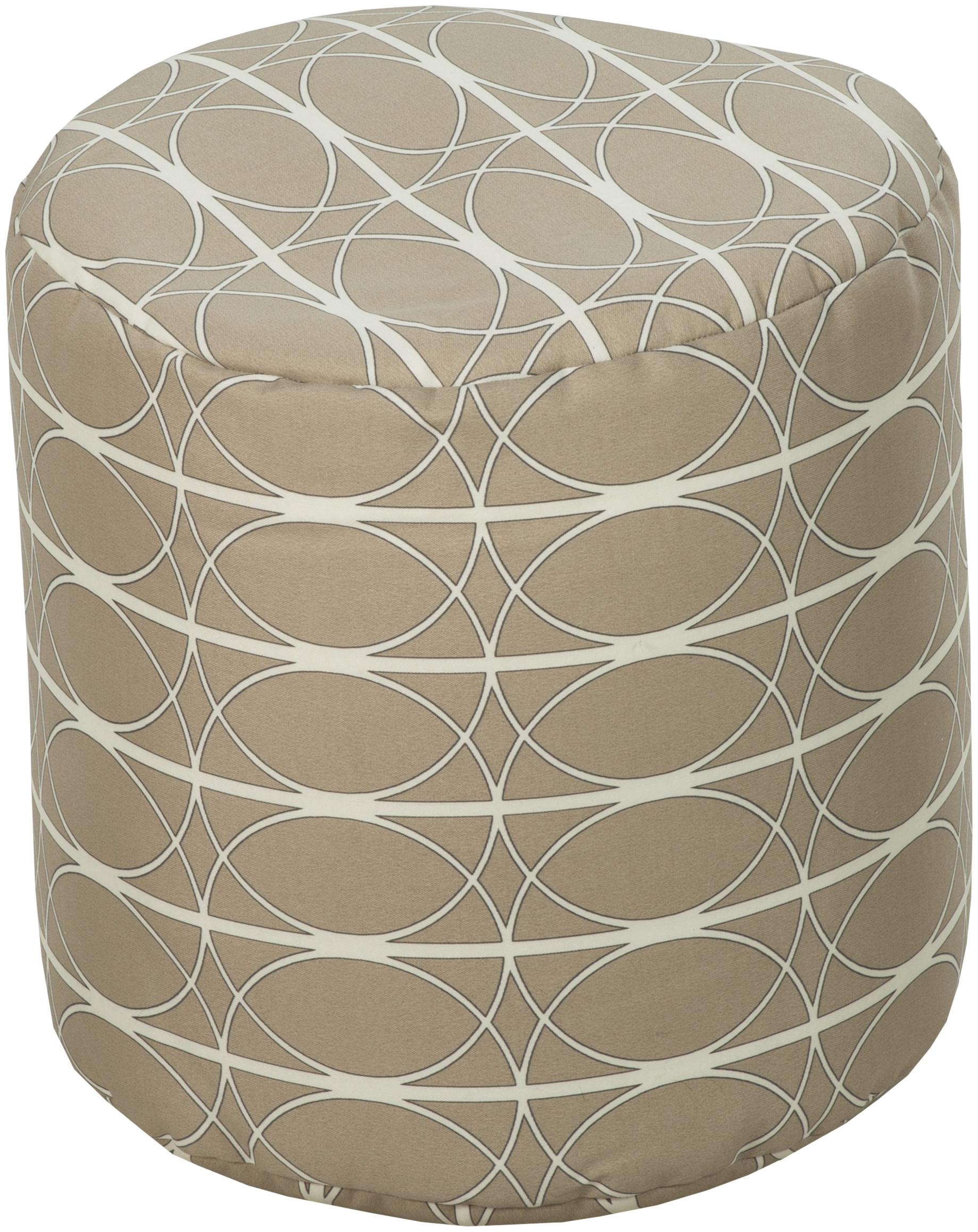 """Surya Rugs Poufs Round 18"""" Pouf - Item Number: POUF-109"""
