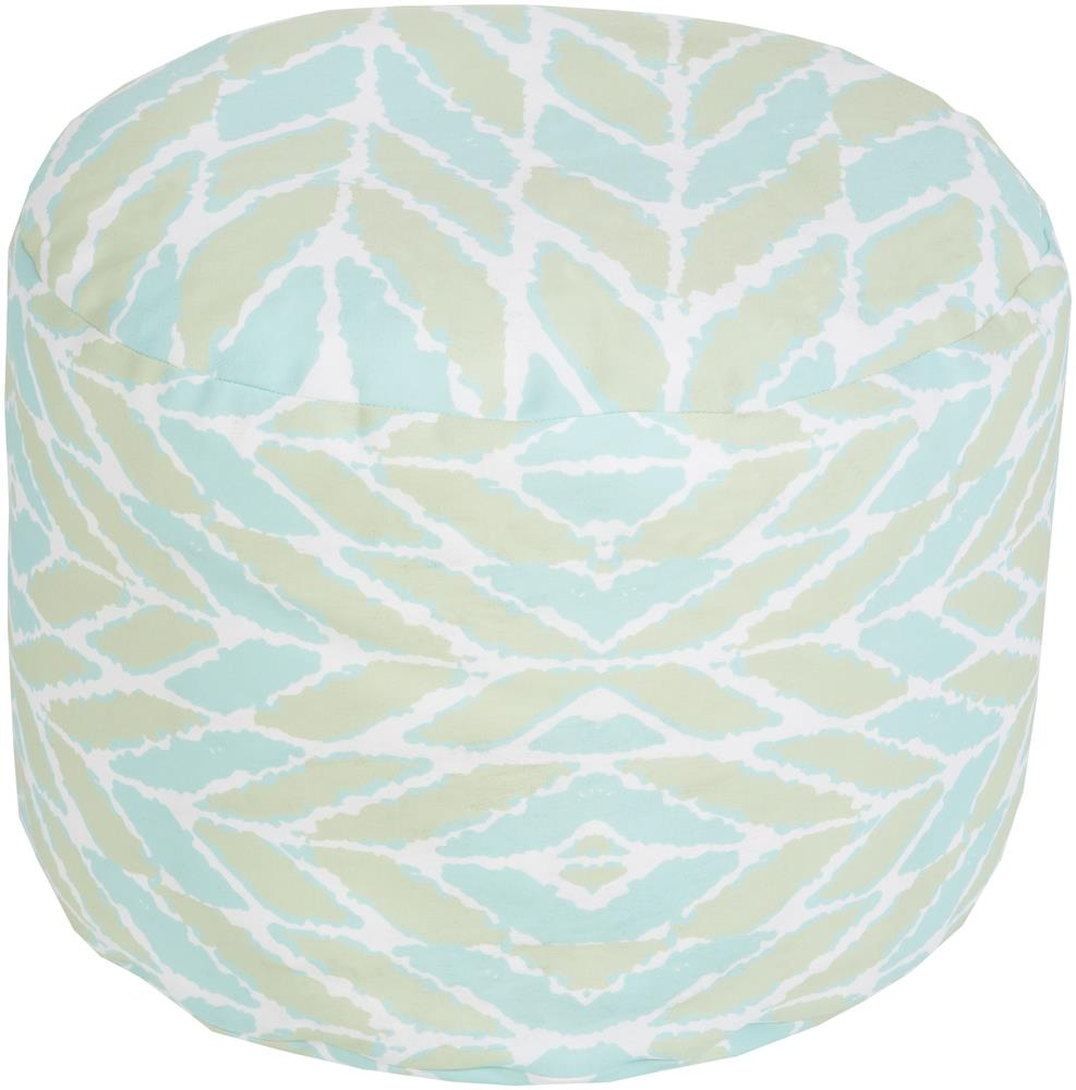 "Surya Rugs Poufs 20"" x 13"" Round Pouf - Item Number: POUF-261"