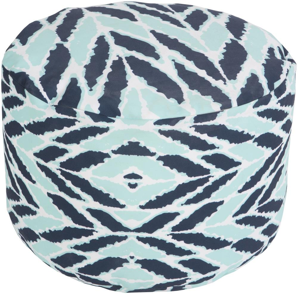 Arrow Aqua Outdoor Pouf