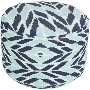 Surya Rugs Poufs Arrow Aqua Outdoor Pouf