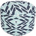 Surya Poufs Arrow Aqua Outdoor Pouf - Item Number: POUF-262