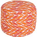 Surya Poufs Arrow Tangerine Outdoor Pouf - Item Number: POUF-264