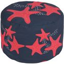 "Surya Rugs Poufs 20"" x 13"" Round Pouf - Item Number: POUF-267"