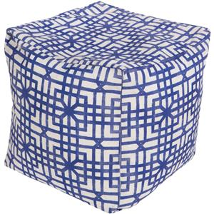 Surya Poufs Lattice Marine Outdoor Pouf