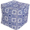 Surya Poufs Lattice Marine Outdoor Pouf - Item Number: POUF-285