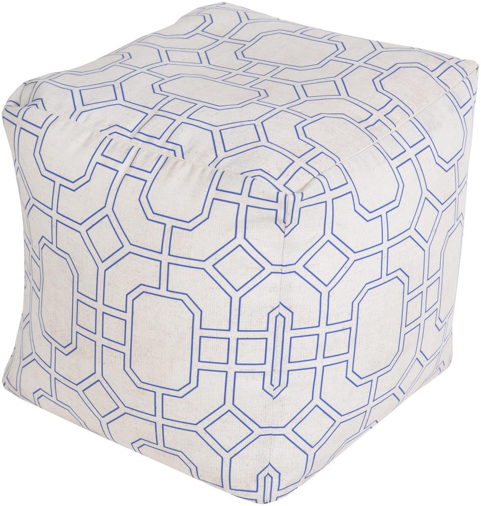 Surya Rugs Poufs Trellis Marine Outdoor Pouf - Item Number: POUF-286