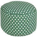 "Surya Rugs Poufs 20"" x 13"" Round Pouf - Item Number: POUF-291"