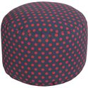 "Surya Rugs Poufs 20"" x 13"" Round Pouf - Item Number: POUF-294"