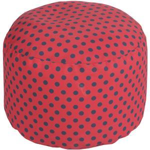 """Surya Poufs 20"""" x 13"""" Round Pouf"""