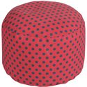 "Surya Rugs Poufs 20"" x 13"" Round Pouf - Item Number: POUF-295"