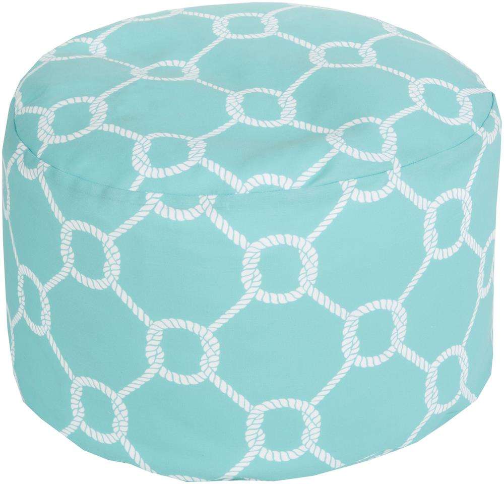 "Surya Rugs Poufs 20"" x 13"" Round Pouf - Item Number: POUF-299"