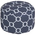 Surya Poufs Rope Trellis Navy Outdoor Pouf - Item Number: POUF-300