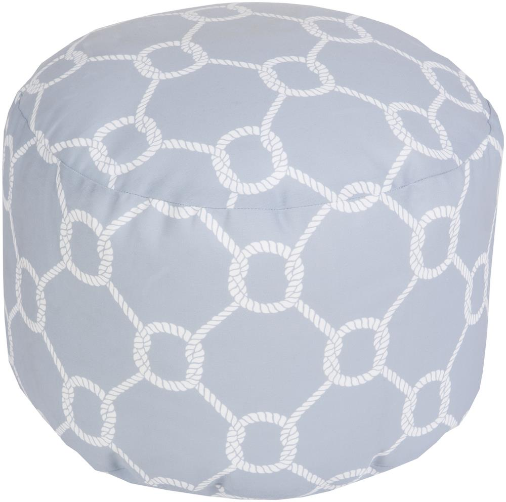 "Surya Rugs Poufs 20"" x 13"" Round Pouf - Item Number: POUF-302"