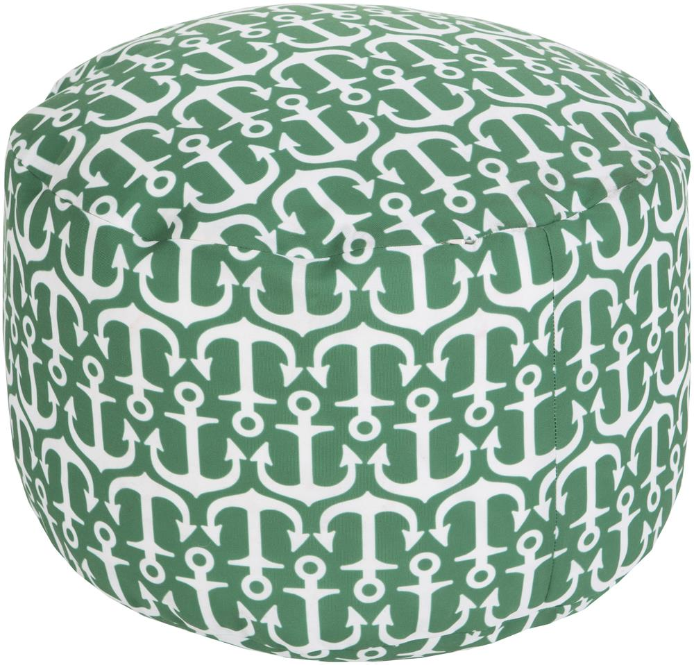 "Surya Rugs Poufs 20"" x 13"" Round Pouf - Item Number: POUF-303"