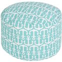 "Surya Rugs Poufs 20"" x 13"" Round Pouf - Item Number: POUF-305"