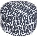 "Surya Rugs Poufs 20"" x 13"" Round Pouf - Item Number: POUF-306"