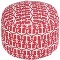 "Surya Rugs Poufs 20"" x 13"" Round Pouf - Item Number: POUF-307"