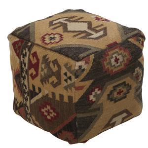 """Surya Rugs Poufs 18""""x18""""x18"""" Pouf"""