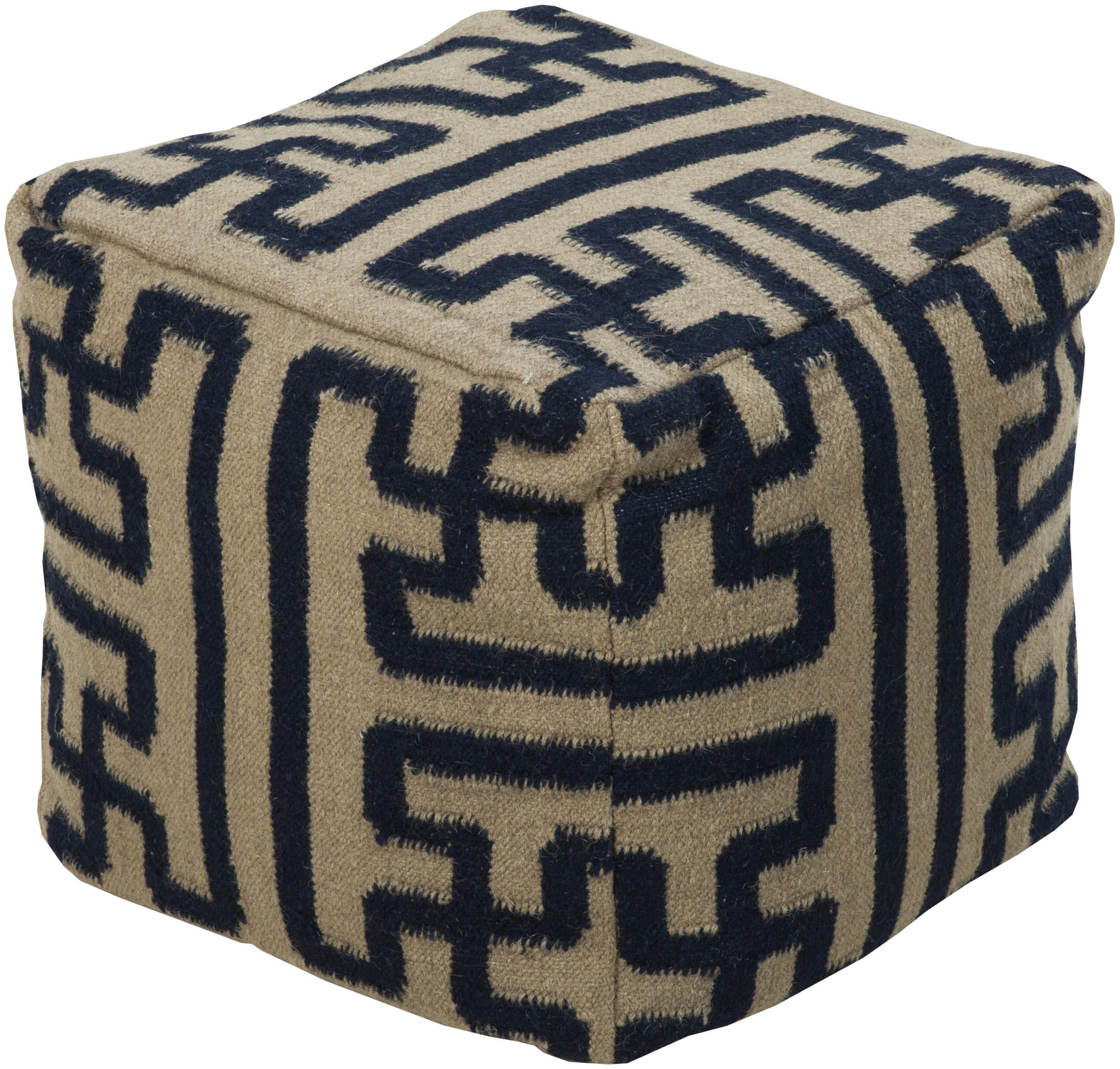 "Poufs 18""x18""x18"" Pouf by Surya at Suburban Furniture"