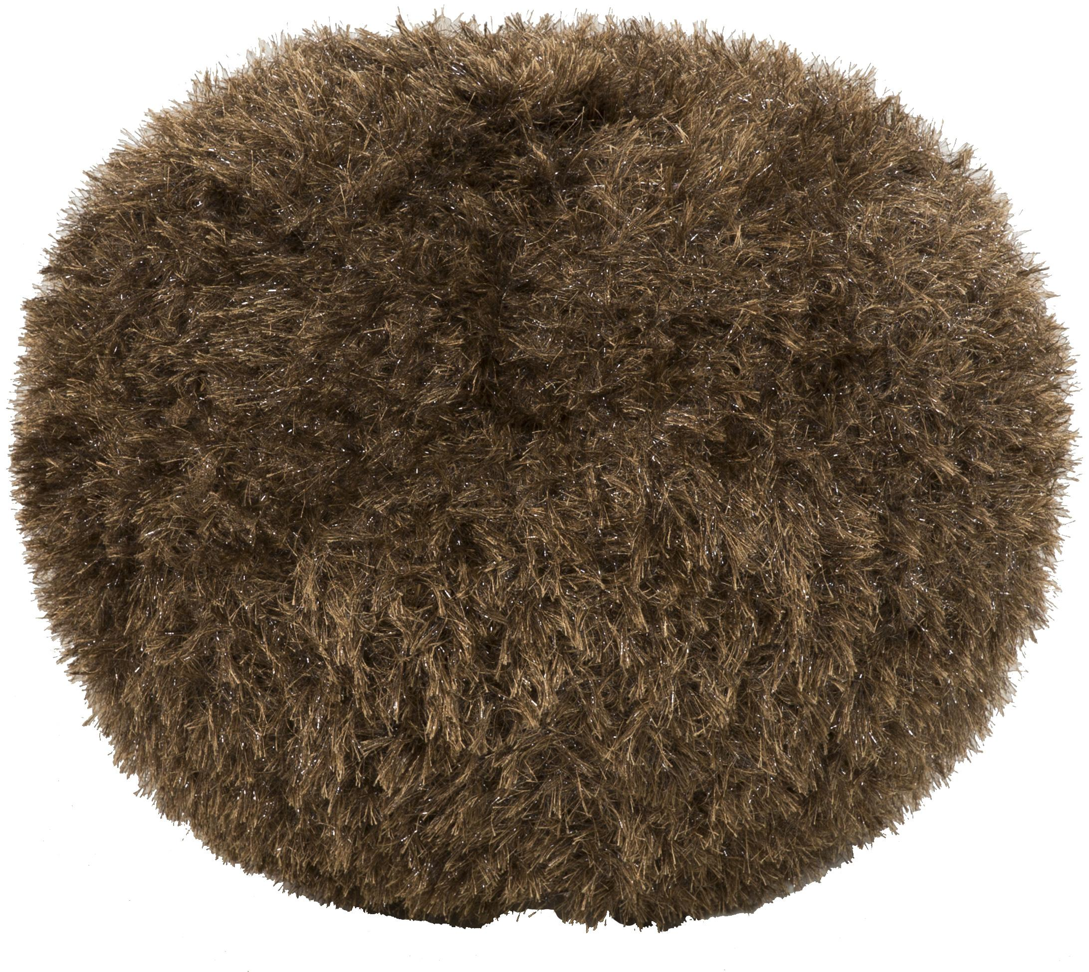 "Surya Rugs Poufs Round 18"" Pouf - Item Number: POUF-76"