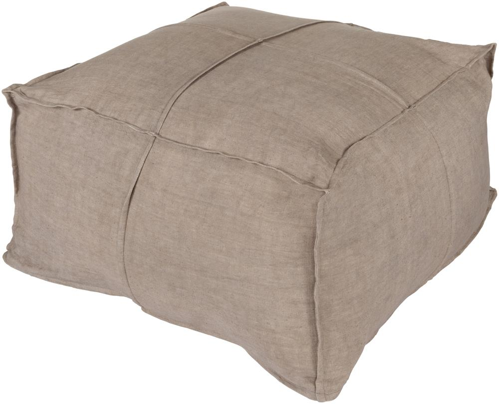 "Surya Rugs Poufs 24"" x 24"" x 13"" Solid Linen Pouf - Item Number: SLPH-002"