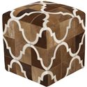 "Surya Rugs Poufs 18"" x 18"" x 18"" Trail Pouf - Item Number: TLPF-002"