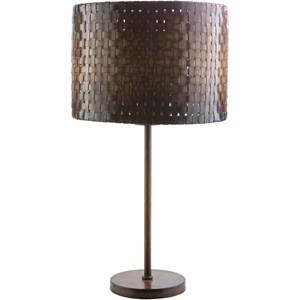 Dark bake bamboo Rustic Table Lamp