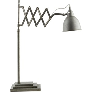 antique silver Industrial Table Lamp