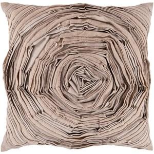 Surya Rustic Romance 18 x 18 x 4 Down Throw Pillow