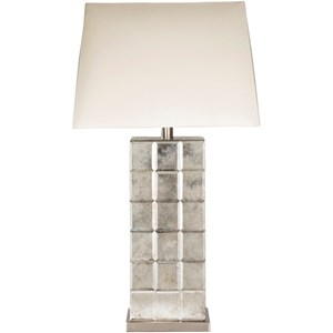 Antiqued Mirror Glam Table Lamp
