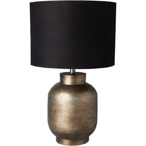 Pewter Finish Global Table Lamp