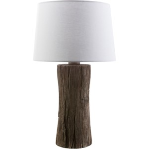 Faux wood Rustic Table Lamp
