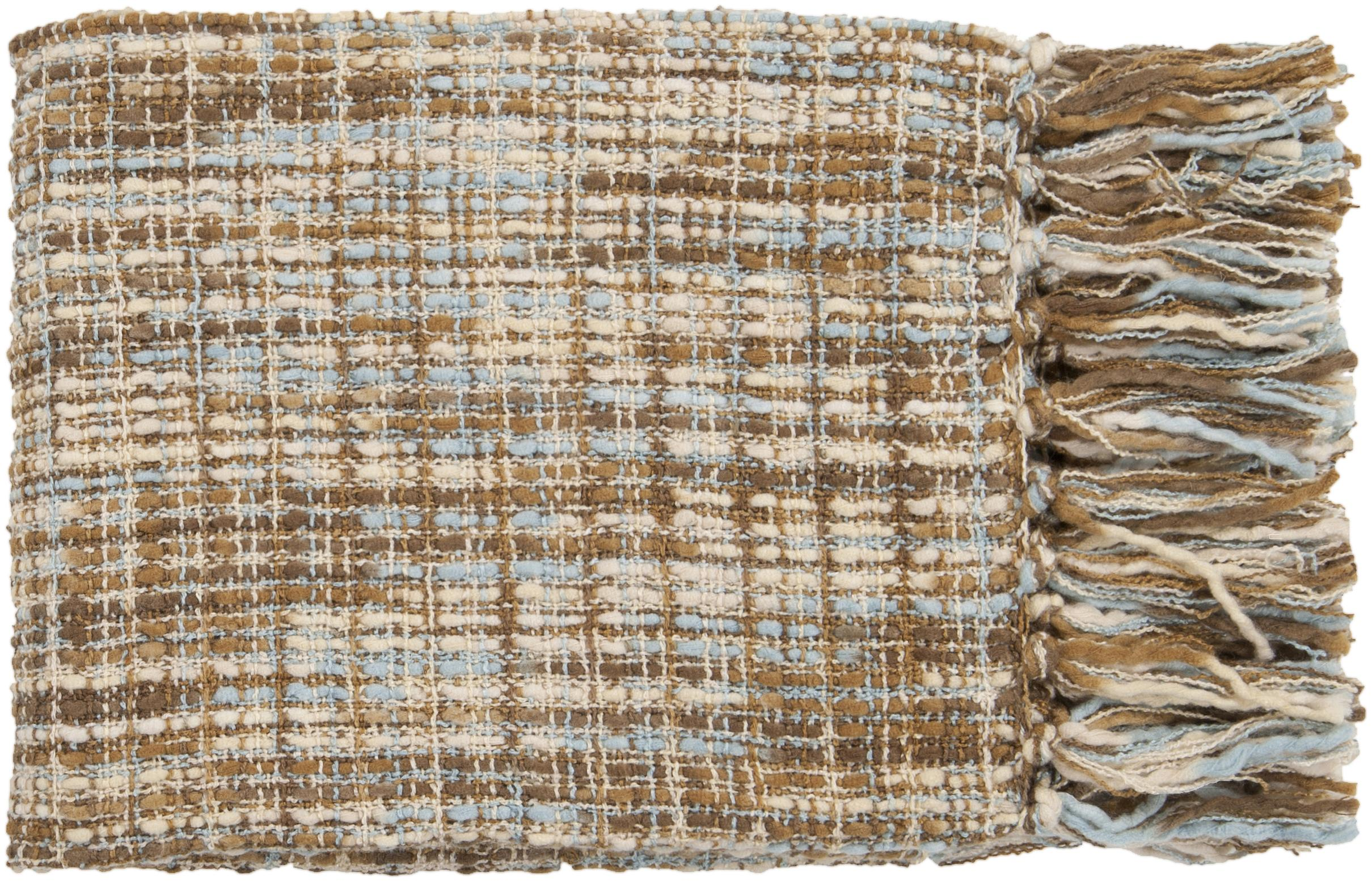"Surya Rugs Throw Blankets Tabitha 50"" x 60"" Throw - Item Number: TAT8204-5060"
