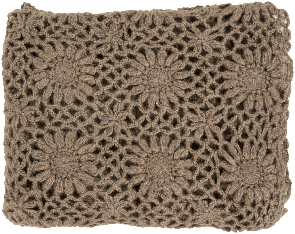 "Surya Throw Blankets Teresa 50"" x 60"" Throw - Item Number: TEA2001-5060"