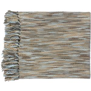 "Surya Rugs Throw Blankets Teegan 55"" x 78"" Throw"