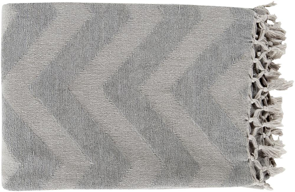 "Surya Rugs Throw Blankets Thacker 50"" x 70"" Throw - Item Number: THA8002-5070"