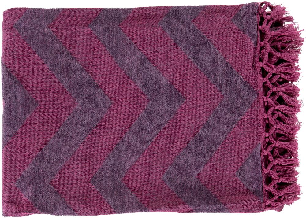"Surya Throw Blankets Thacker 50"" x 70"" Throw - Item Number: THA8003-5070"